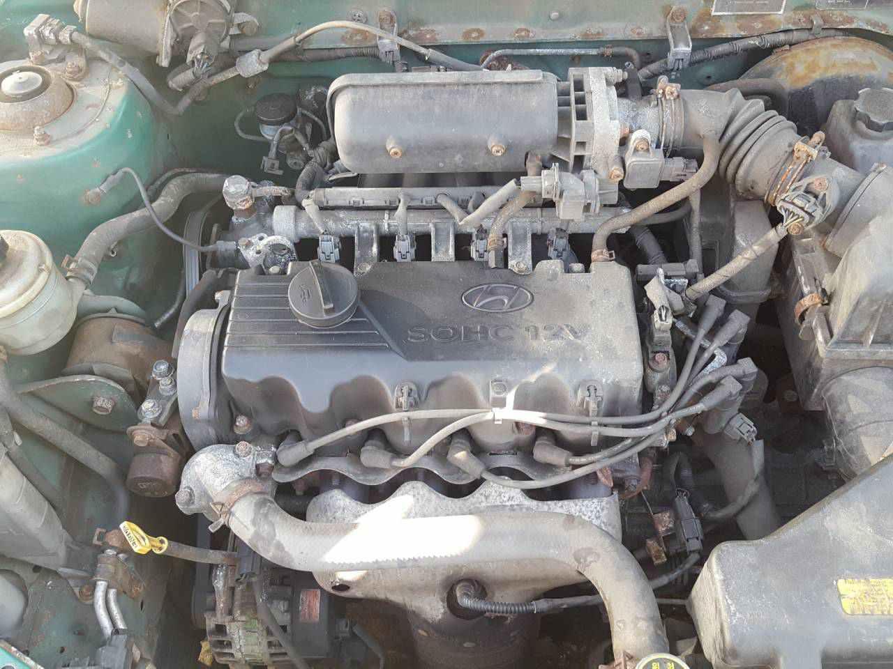 Двигатель (ДВС) Hyundai Accent 1 2000 Хетчбэк 3дв. Механика 1.3i 12v 84лс